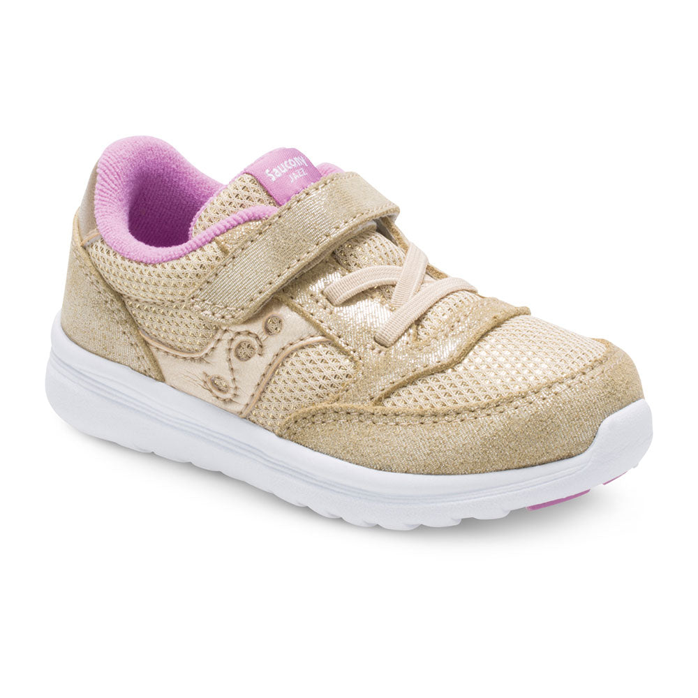 Saucony Little Kid's Baby Jazz Lite Sneaker - Gold Sparkle