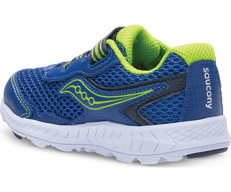 Saucony Ride 10 Jr. Sneaker - Blue/Green