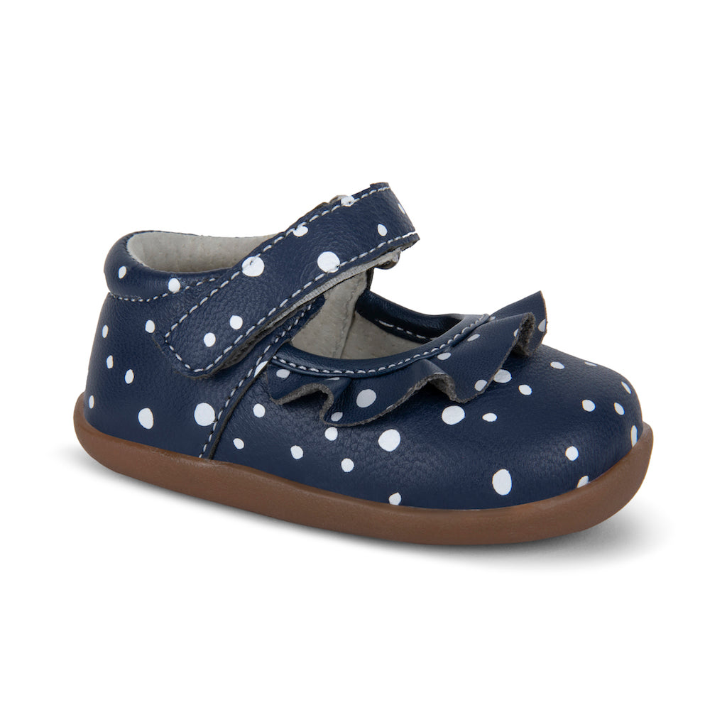 See Kai Run FW Belle MJ Navy Snowflake