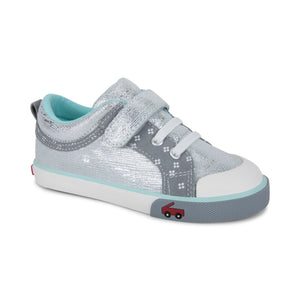 See Kai Run Kristin Silver Shimmer Leather