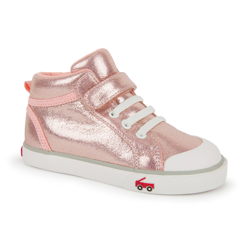 See Kai Run Peyton Hi-Top in Hi-Top Rose Shimmer