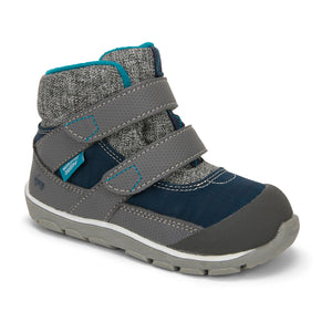 Atlas Waterproof/Insulated Boot - Navy/Grey