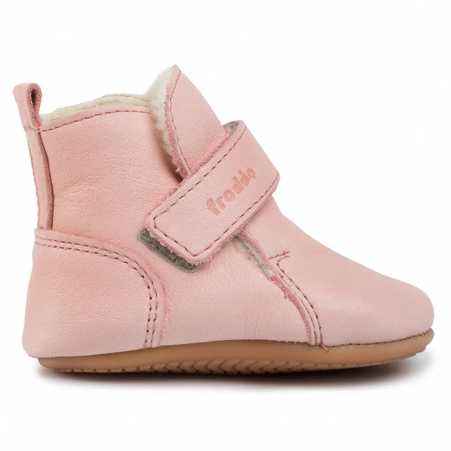Prewalker Leather Sherpa Bootie - Pink