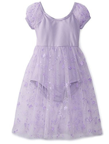 Capezio Empire Puff Sleeve Dress in Lavender -  - Little Feet Childrens Shoes  - 1