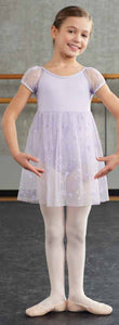 Capezio Empire Puff Sleeve Dress in Lavender -  - Little Feet Childrens Shoes  - 2