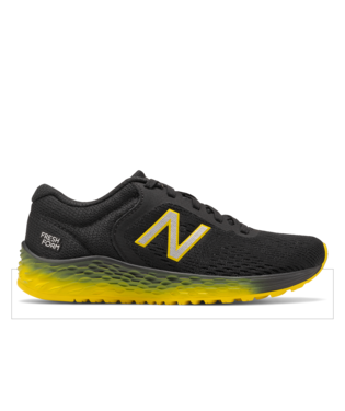 Arishi v2 Lace Running Shoe - Black with Atomic Yellow