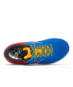 New Balance Kids Arishi v2 Lace Running Shoe - Cobalt with Team Red