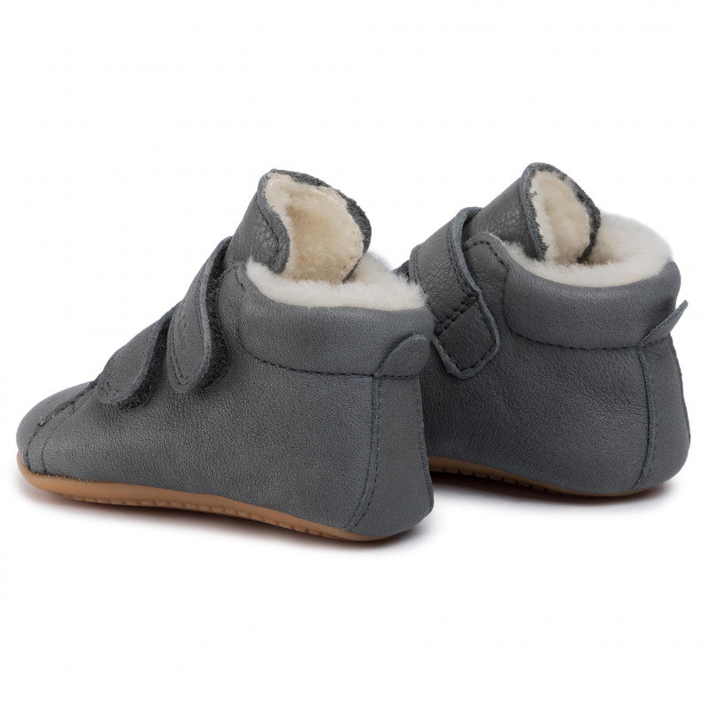 Prewalker Leather Sherpa Boot - Grey