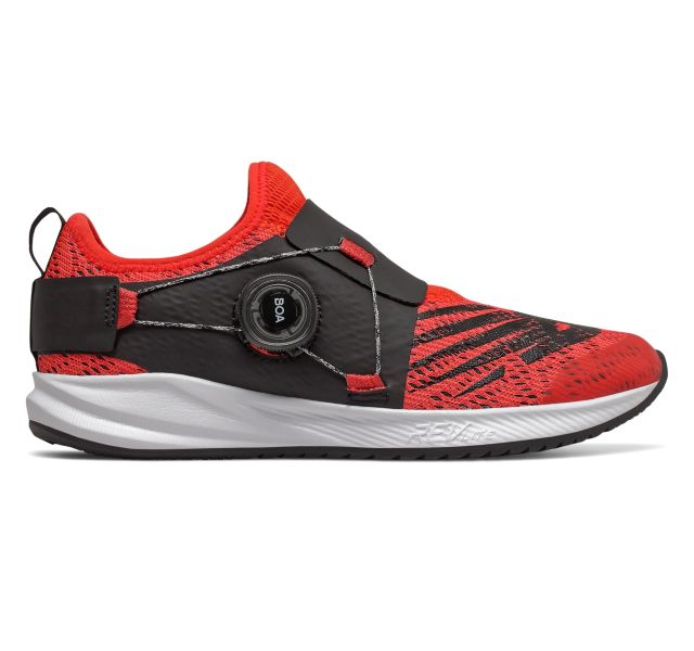 New Balance Kids Fuel Core Reveal Boa - Neo Flame with Team Red & Black