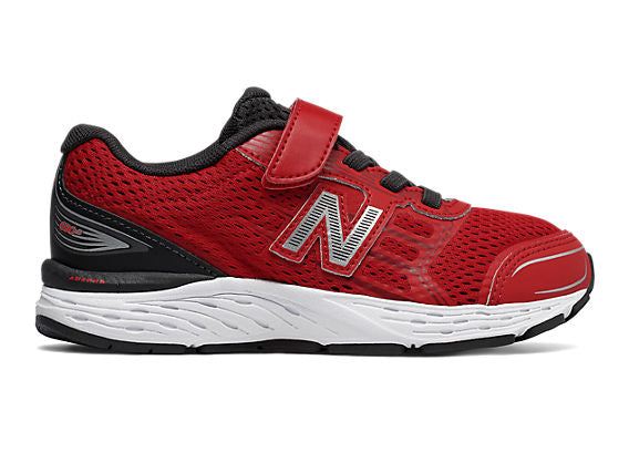 New Balance Kids 680v5 A/C in Team Red