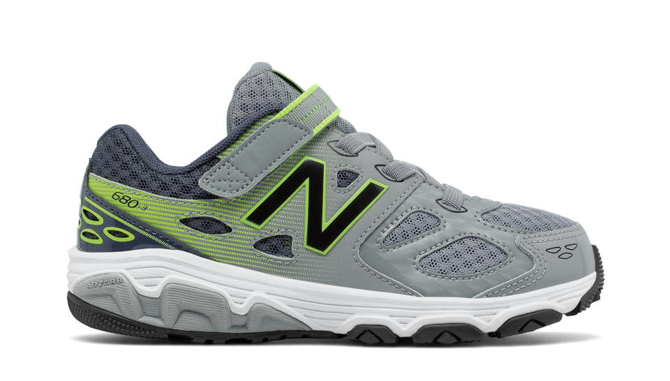New Balance 680v3 Velcro S17 Grey/Lime
