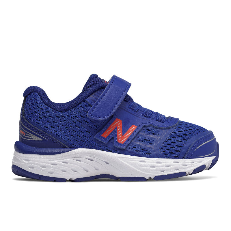 New Balance 680v5 velcro in Pacific Blue/Red (Sizes 7-4)