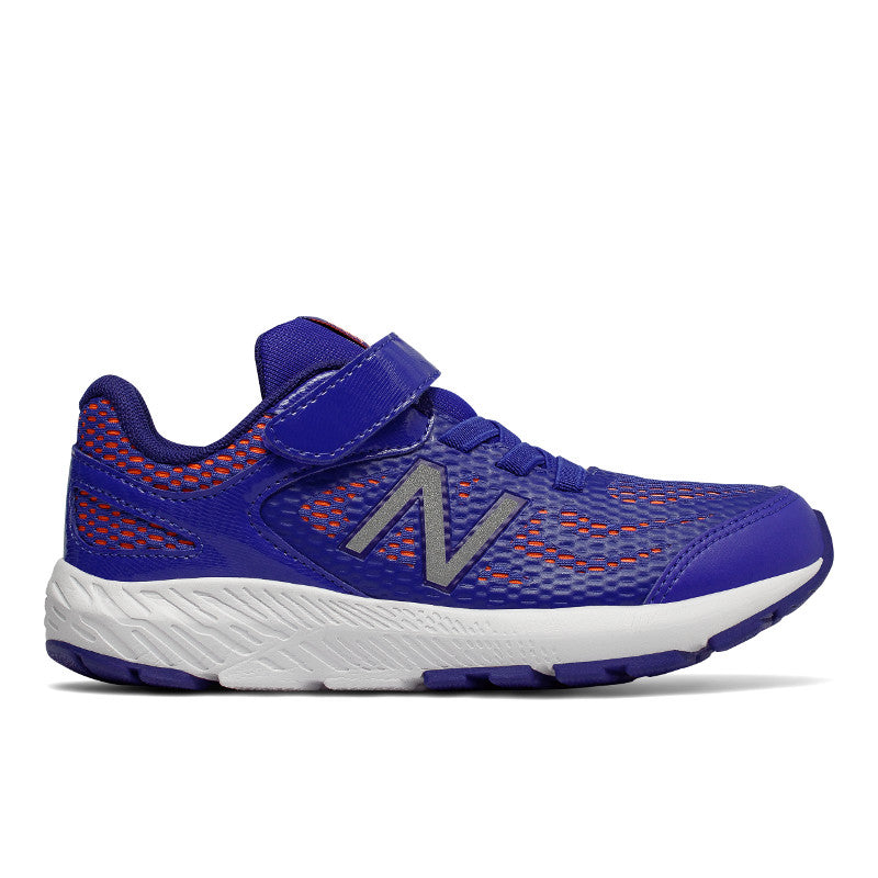 New Balance 519V1 Velcro in Pacific Blue/Red (Sizes 10.5-5)