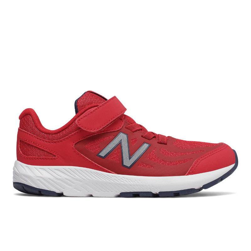New Balance 519v1 Velcro in Chili Pepper Red (Sizes 10.5-4)