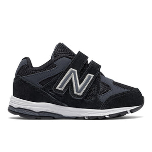 New Balance 888v4 AFO Velcro in Black/Grey (Sizes 4-10)