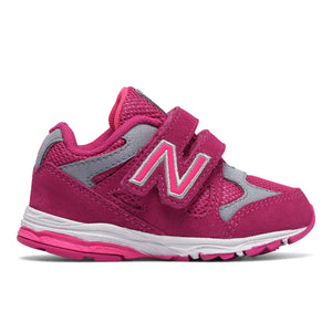 New Balance 888v4 AFO Velcro in Pink/Grey (Sizes 4-10)