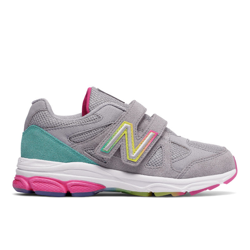New Balance 888v1 Velcro in Silver/Rainbow (Sizes 10.5-12)
