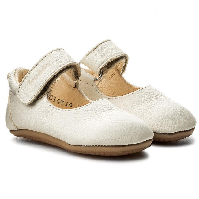 Prewalker Leather Mary Jane - White