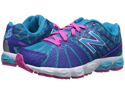 New Balance 890V5 Lace Sneaker in Blue/Blue/Pink -  - Little Feet Childrens Shoes
