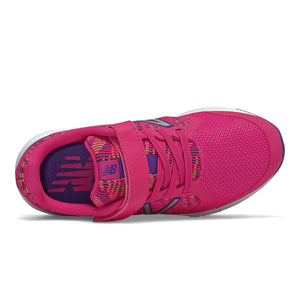 New Balance Kids 519v2 A/C Running Shoe - Exuberant Pink with Prism Purple
