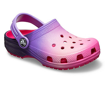 Crocs Kids Classic in Ombre Pink