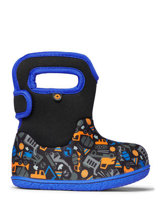 Baby Bogs Construction Black/Blue