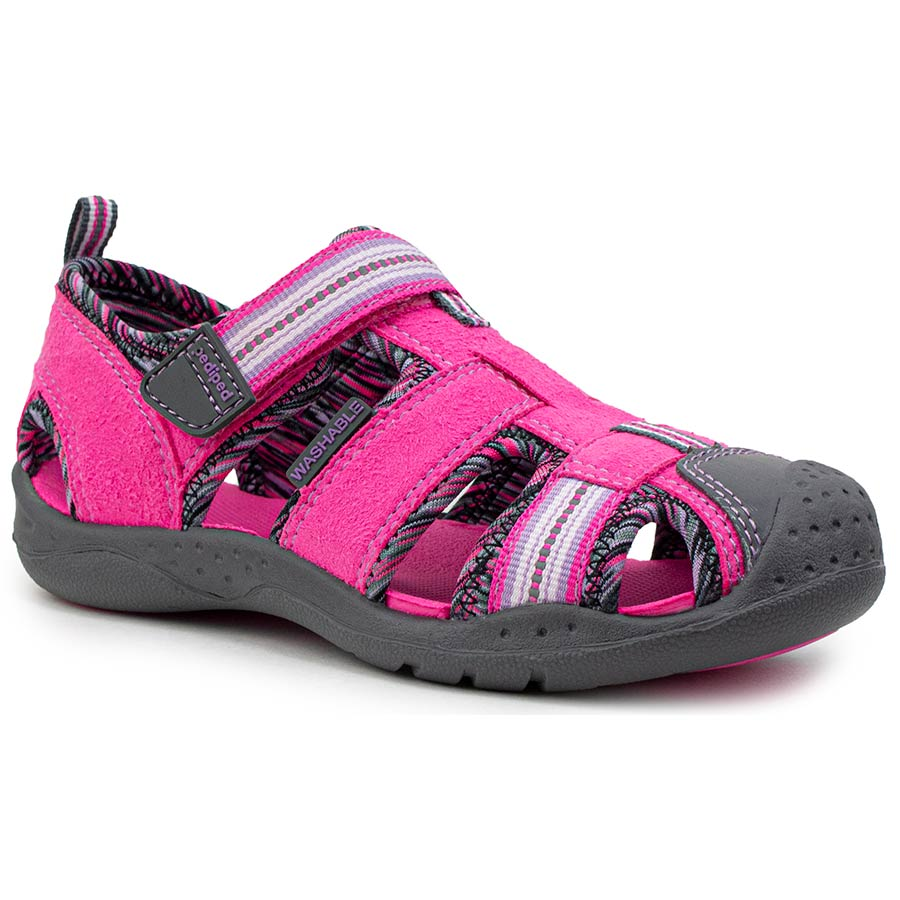 Pediped Flex Sahara Sandal - Pink Stripe