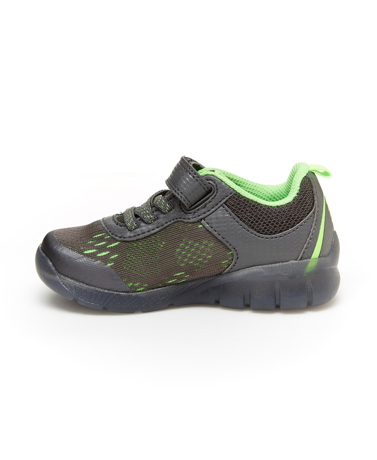 Stride Rite Made2Play Lighted Neo Sneaker - Grey/Green