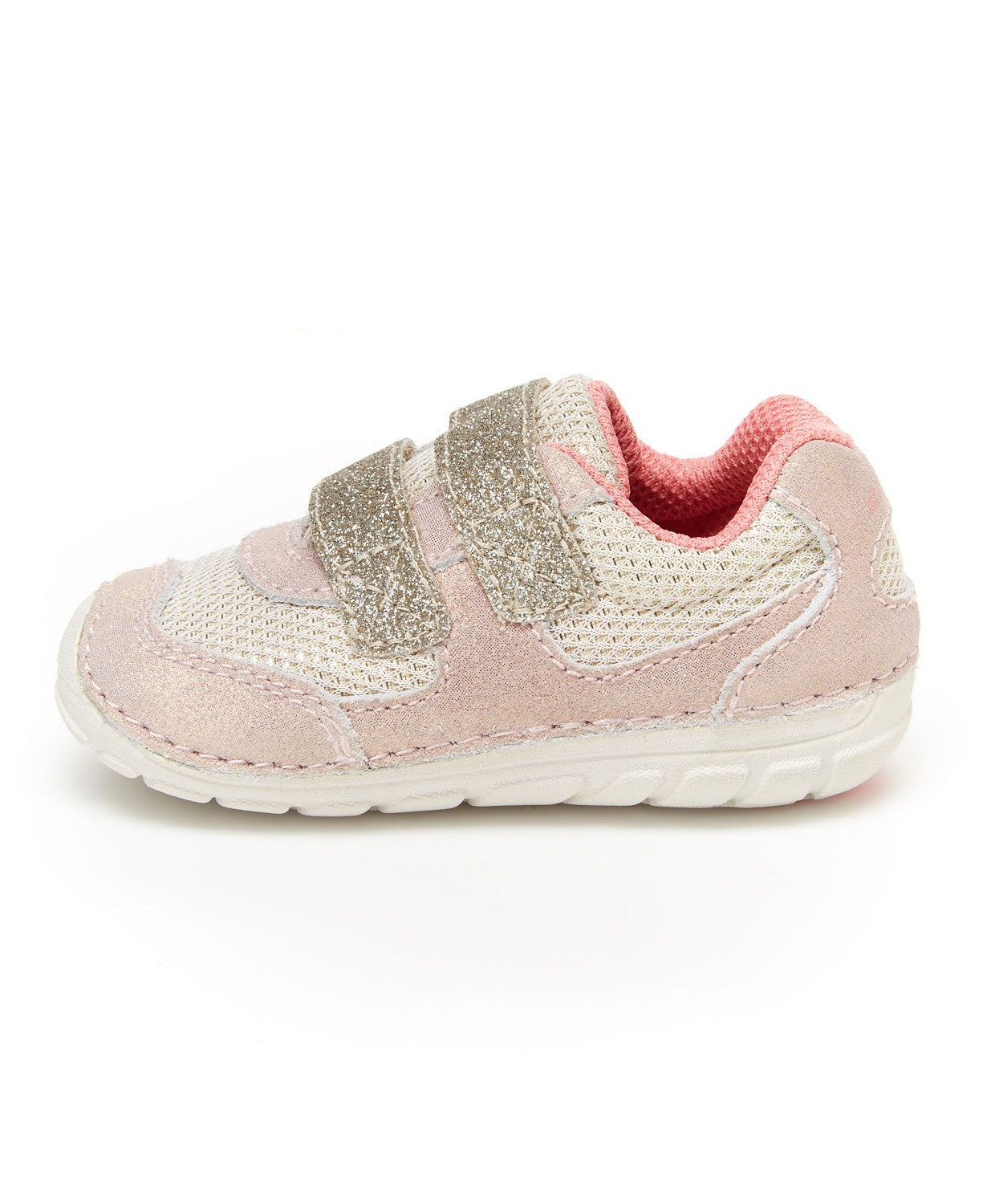 Stride Rite Soft Motion Mason Sneaker - Taupe/Coral