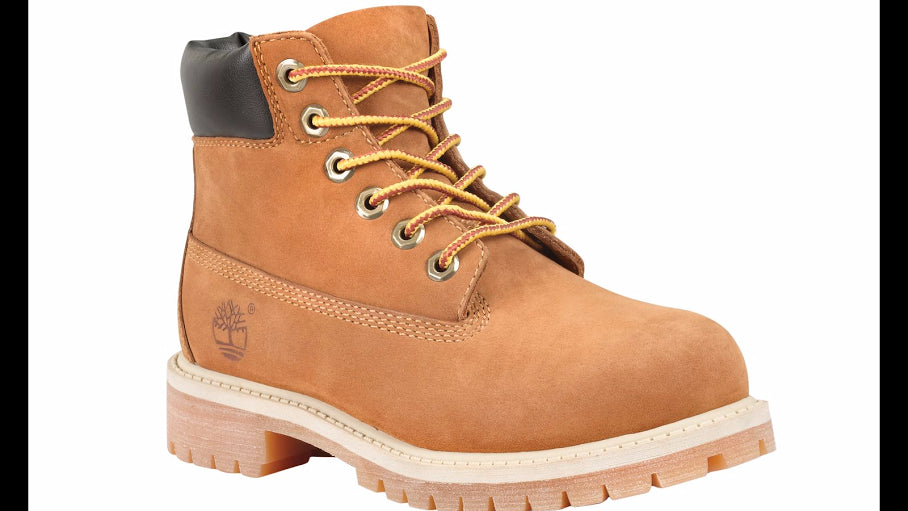 "Timberland 6"" Premium Waterproof Boots in Nuwbuck/Honey -  - Little Feet Childrens Shoes  - 1"