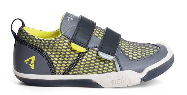 Plae Ty in Steel/Yellow -  - Little Feet Childrens Shoes  - 1
