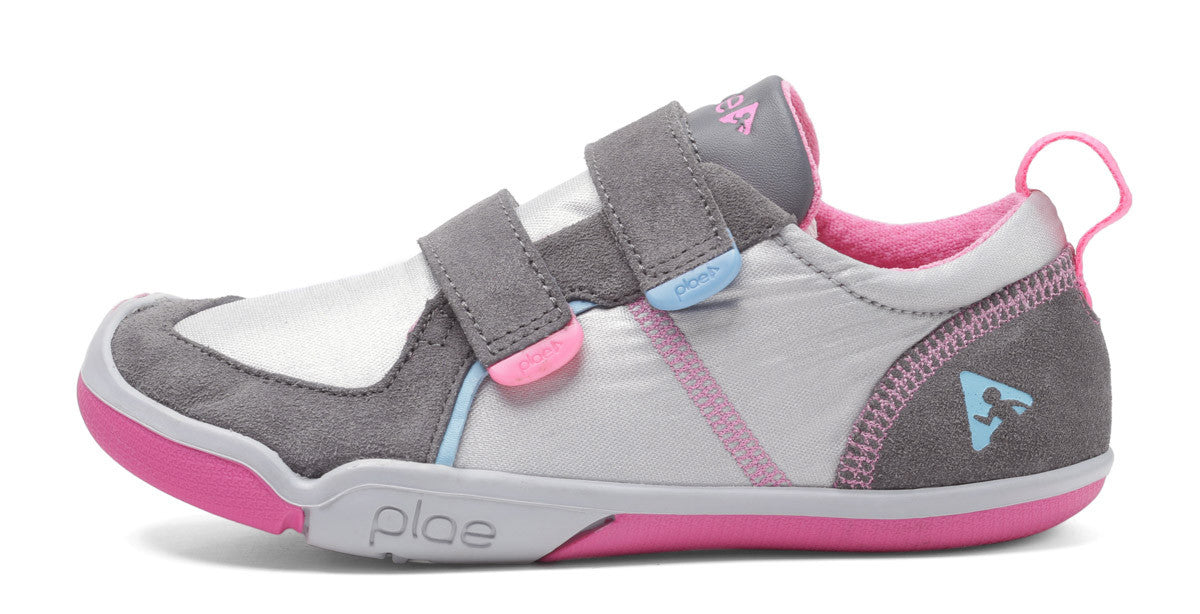 Plae Ty H&L Silver/Pink -  - Little Feet Childrens Shoes  - 1