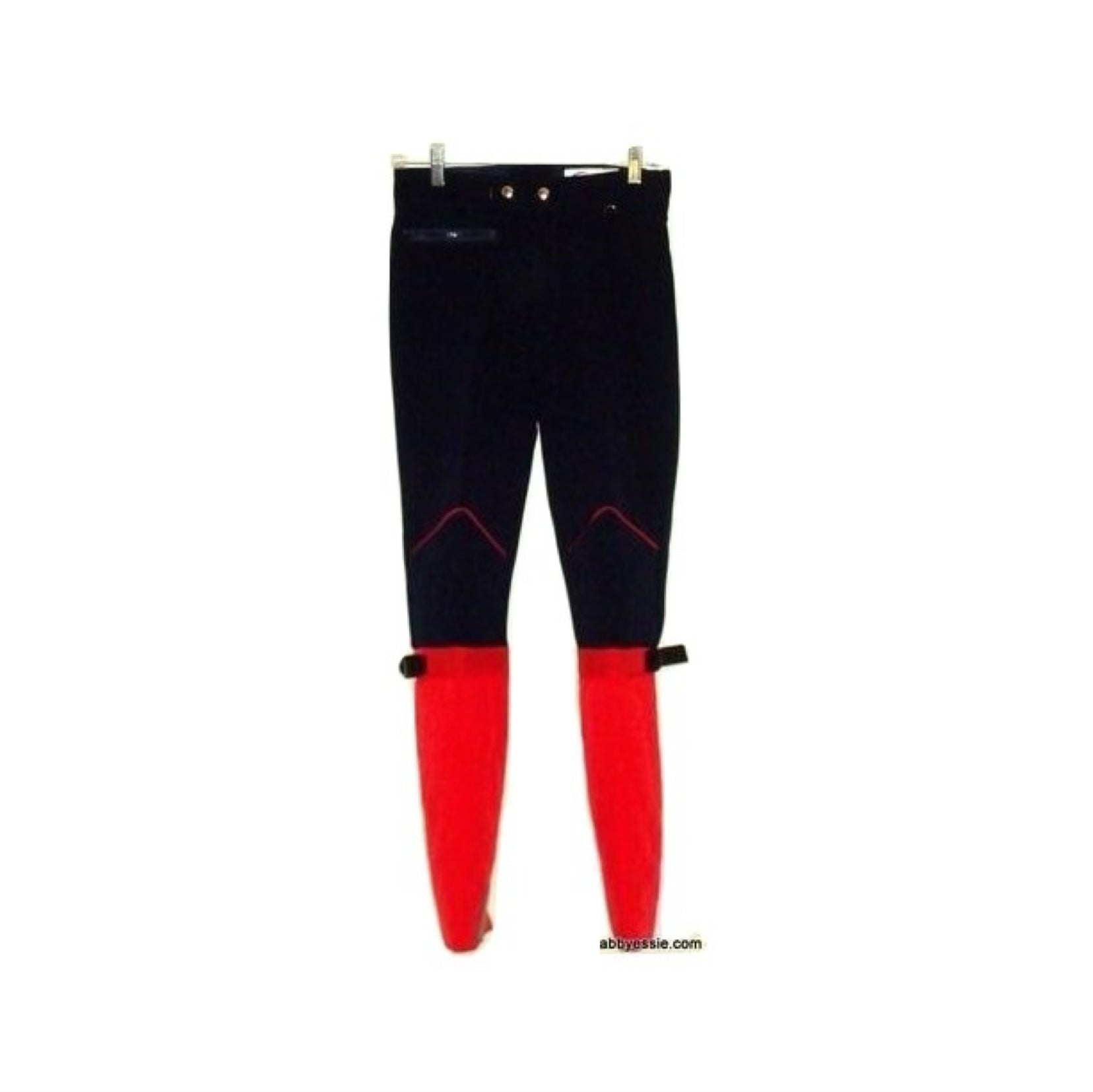 Vintage Subello Navy Blue Red Ski Pants James Bond 70s Swiss Size 28 Small