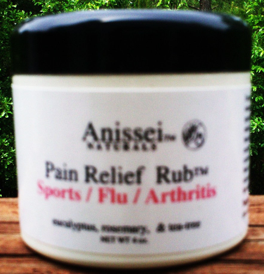ANISSEI NATURALS PAIN RELIEF RUB CREAM SPORTS FLU ARTHRITIS Peppermint 2 oz
