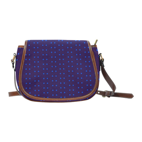Polka Stripe Saddle Bag