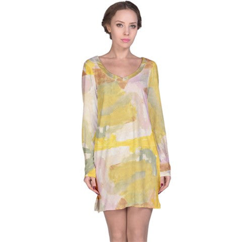 womens sand abstract tunic