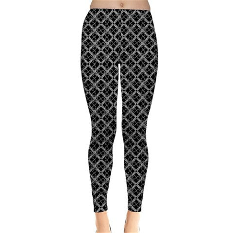 Suga Lane Black Silver Logissimo Leggings