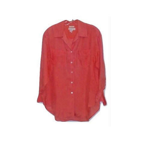 Banana Republic Mens Coral Salmon Pink Beach Vacation Small