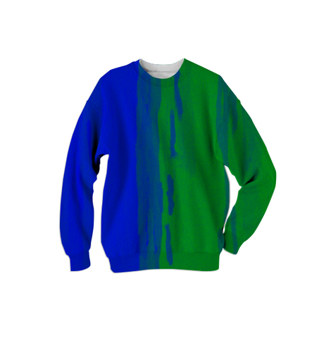 blue & green duality sweatshirt