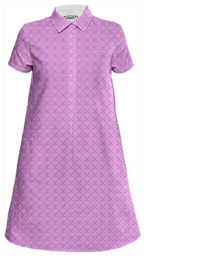 pink logo shirt dress