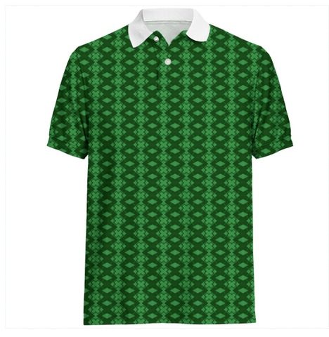 S. Lane Men Exes Polo Shirt - dark green