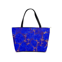 Suga Lane Blue Floral Fireworks Shoulder Tote Bag
