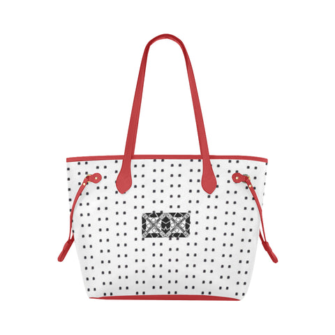 Polka Stripe Cassie Canvas Tote Bag