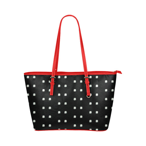 Polka Stripe Jane Leather Tote Bag /Small