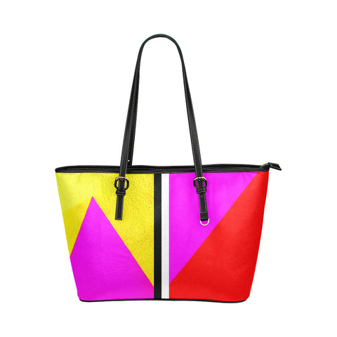 Abstract Jane Leather Tote Bag