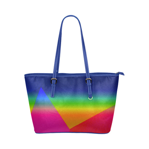 Rainbow Jane Leather Tote Bag