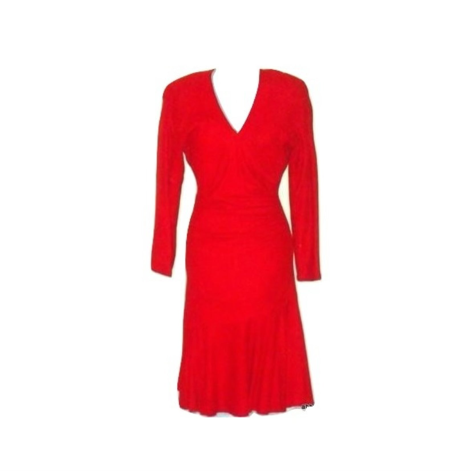 Vintage VAKKO Red Soft Suede Leather Cocktail Dress
