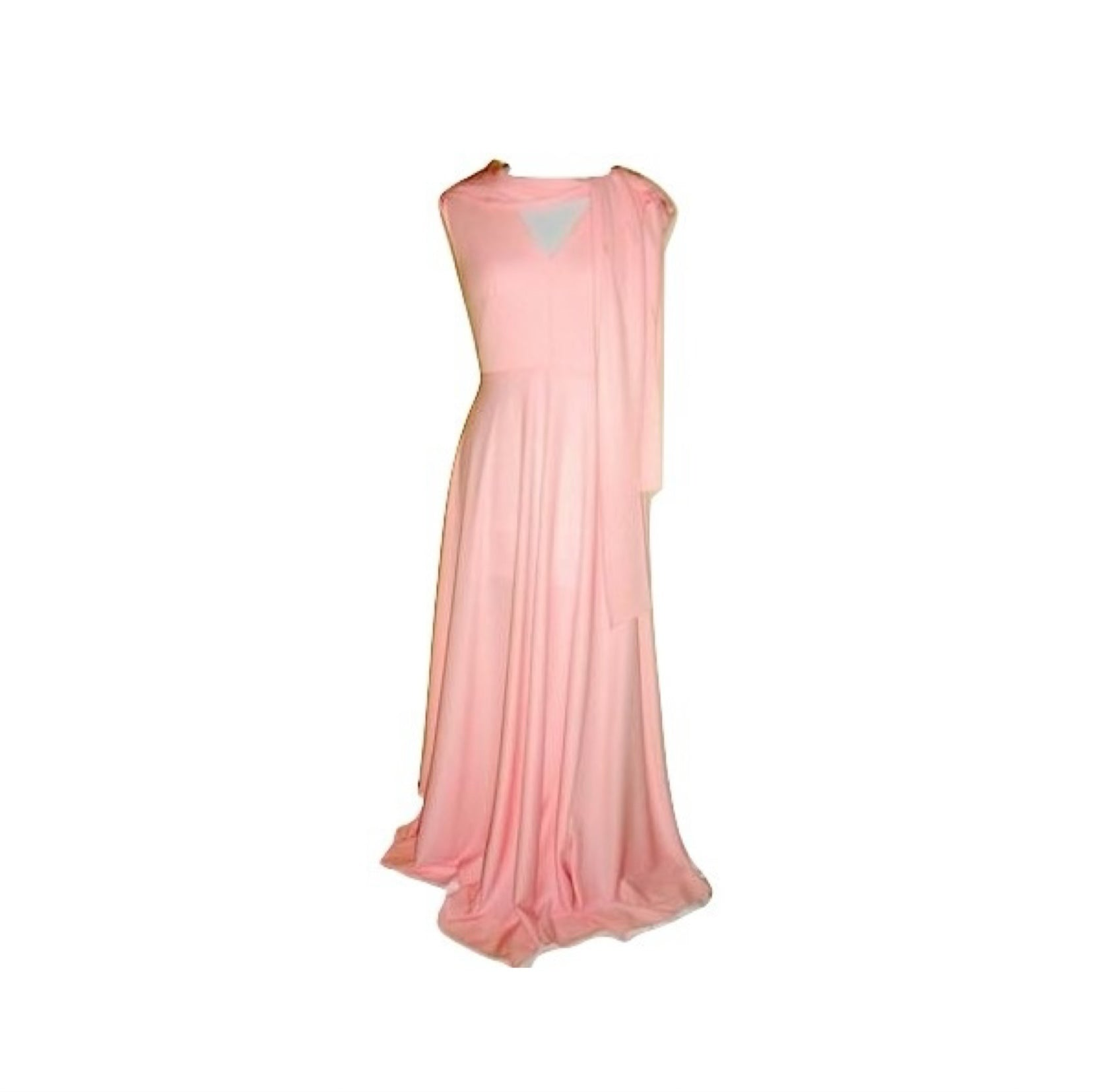 Vintage House Of Bianchi Pale Pink 70s Disco Dress Gown Small