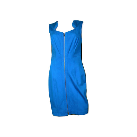 Cache Turquoise Blue Bodycon Sleeveless Sheath Dress
