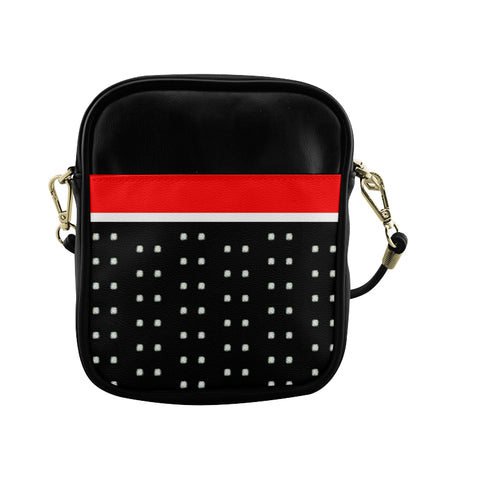 Polka Stripe Sling Crossbody Bag